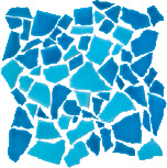 Mosaic Spaccatella bicolored 30x30 cm Azzurro Mare Turchese Abbamar