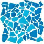 Mosaic Spaccatella bicolored 30x30 cm Azzurro Mare Turchese Abbamar
