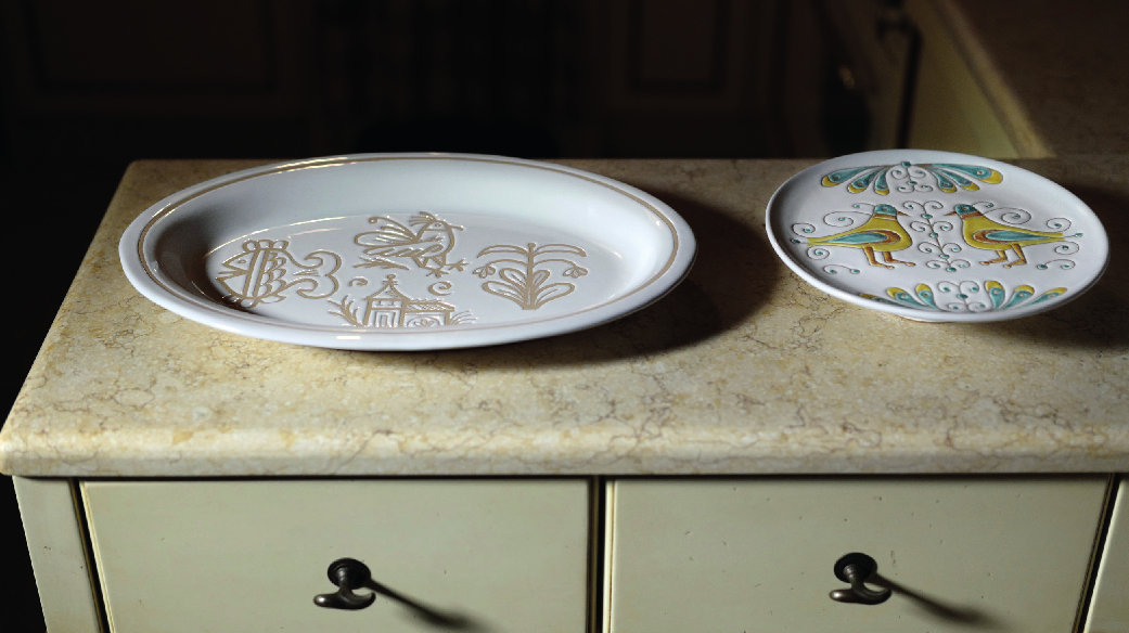 objects decorated with cerasarda plates